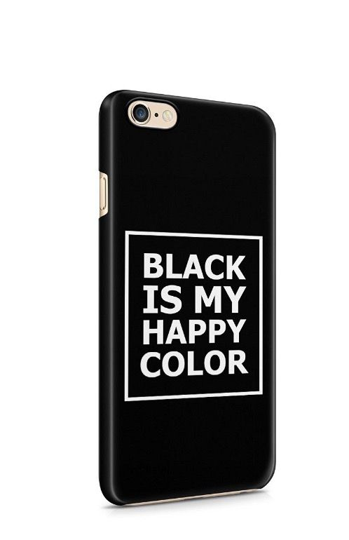 "Amazon cover iPhone ""black is my happy color"""