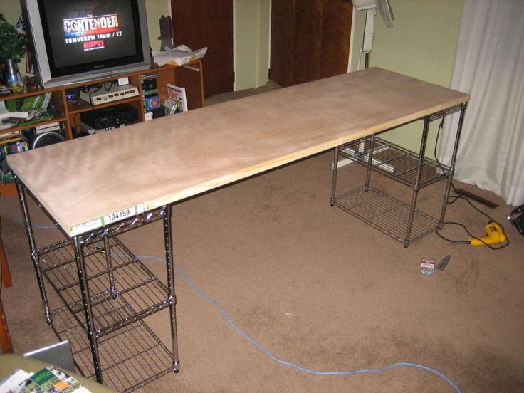 Diy cheap desk cheap and easy to use diy computer desk for Cheap desk ideas