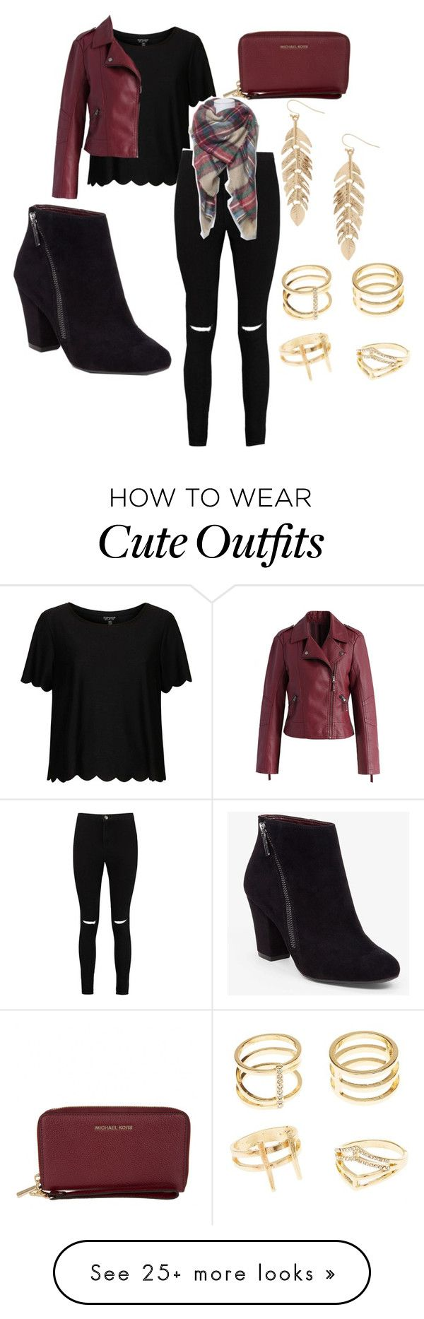 """""""Cute Fall Outfit"""" by meganratliff27 on Polyvore featuring Topshop, Boohoo, Chicwish, BCBGeneration, MICHAEL Michael Kors, Charlotte Russe and Humble Chic"""