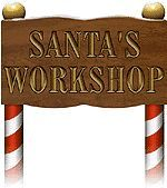 Santas Workshop Sign | ... as the location of Santa's workshops and village many, many years ago
