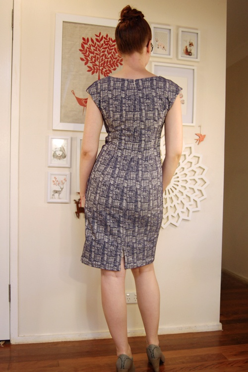 Amy W's Gridlock dress entry - drafted and adapted from Burda Magazine dress 121 from issue 9/2012