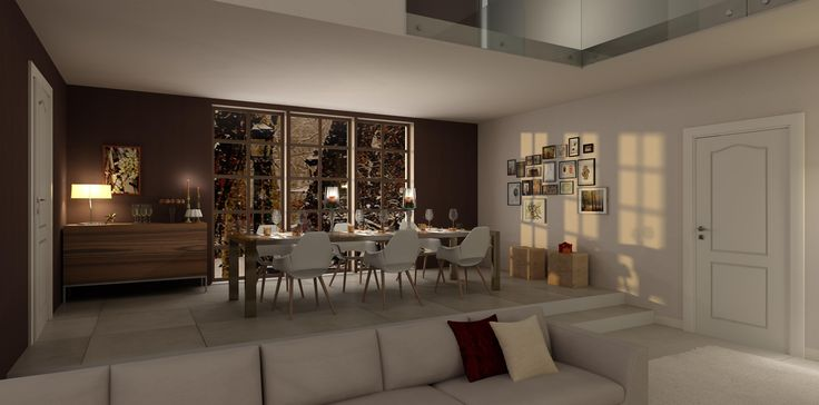 Christmas dining room, virtual image, rendered with DomuS3D and mental ray