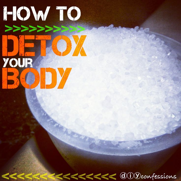 Detox bath 1. Add 2 cups epsom salt to your bath water. {Get the water as hot as you can stand it. We're looking to create a nice sweat!}  2. If your bath water is not filtered, add 1 cup of baking soda. {This helps neutralize the chemicals as well as increase mineral absorption.}  4. Immerse yourself in the water, allll the way up to your neck. {Soak for at least 20 mins.}
