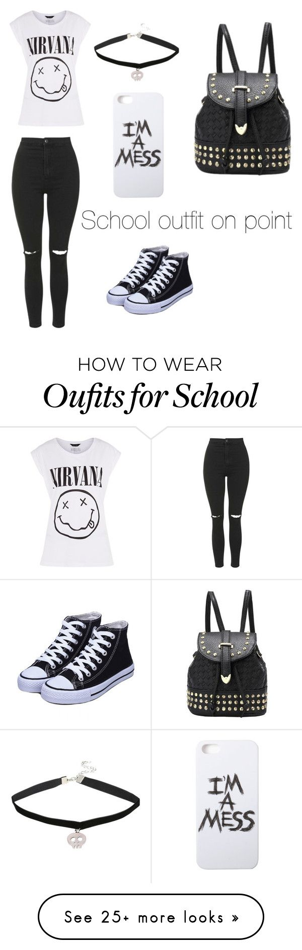 """School"" by contemrs on Polyvore featuring Topshop and LAUREN MOSHI"