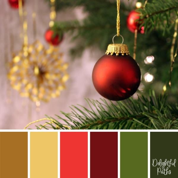 Christmas Colors Palette.Christmas Color Palettes Digi Scrapping Color Palettes