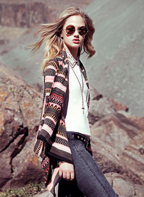 DENIMLAB  Sweater con un toque étnico! Lo étnico  está de moda!