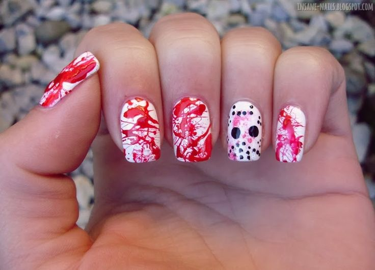 127 best nail arthalloween images on pinterest youtube insanenails halloween nail art challenge 2013 blood halloween nailart nails prinsesfo Choice Image