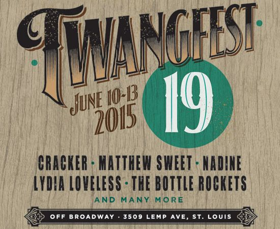 Twangfest is a music festival in St. Louis featuring the finest twang, rock, pop and soul in the known universe.
