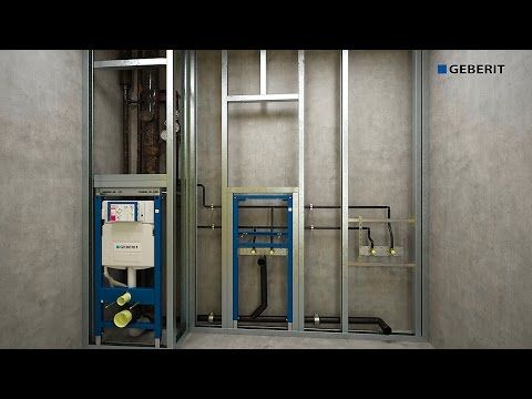 Geberit Duofix Sigma Plattenbau - Installation - YouTube