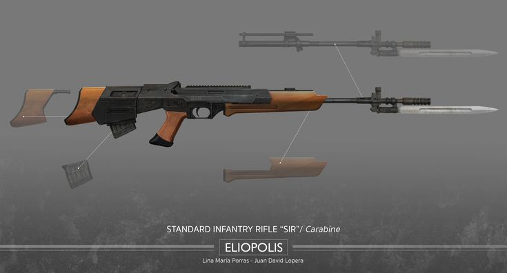 Eliopolis - Standard Infantry Rifle (SIR) - Carabine Kit #Eliopolis #WWZ #worldwarz #props #conceptart #weapondesign #weapon #art #carabine