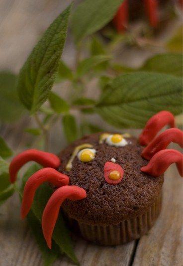 Muffin a forma di ragno | #Ricette di Halloween per bambini | #spider