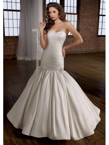 Silk Like Satin Sweetheart Mermaid Wedding Dress