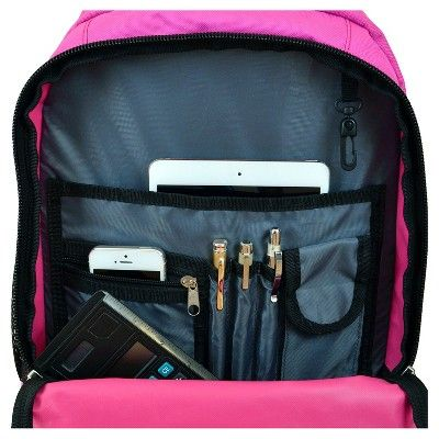 NFL Bufallo Bills Premium Wheeled Backpack - Pink, Buffalo Bills, Durable