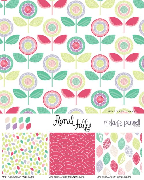 Floral Folly © Melanie Pennell Design 2014 Surface Pattern Design