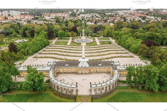 Aerial View Of Sanssouci Palace Aerial View Aerial Charlottenburg Palace
