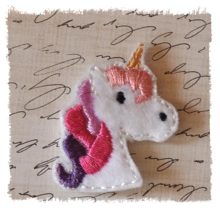 12 Unicorn Felt Bow Centers Wholesale. $10.00, via Etsy.
