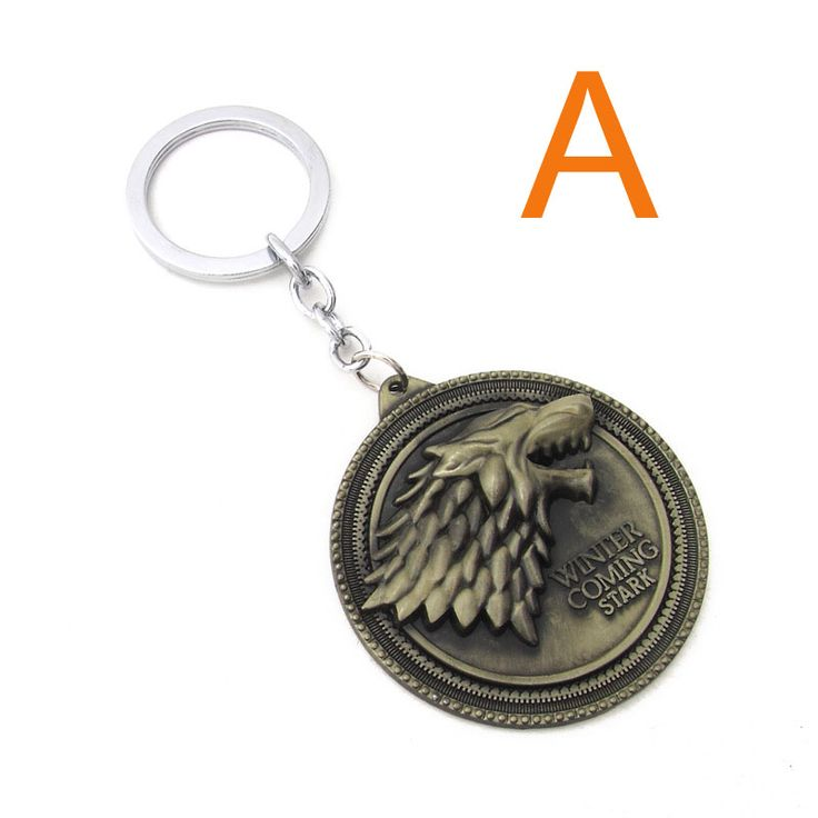 Game Of Thorns Wolf Keychains House Stark Gifts