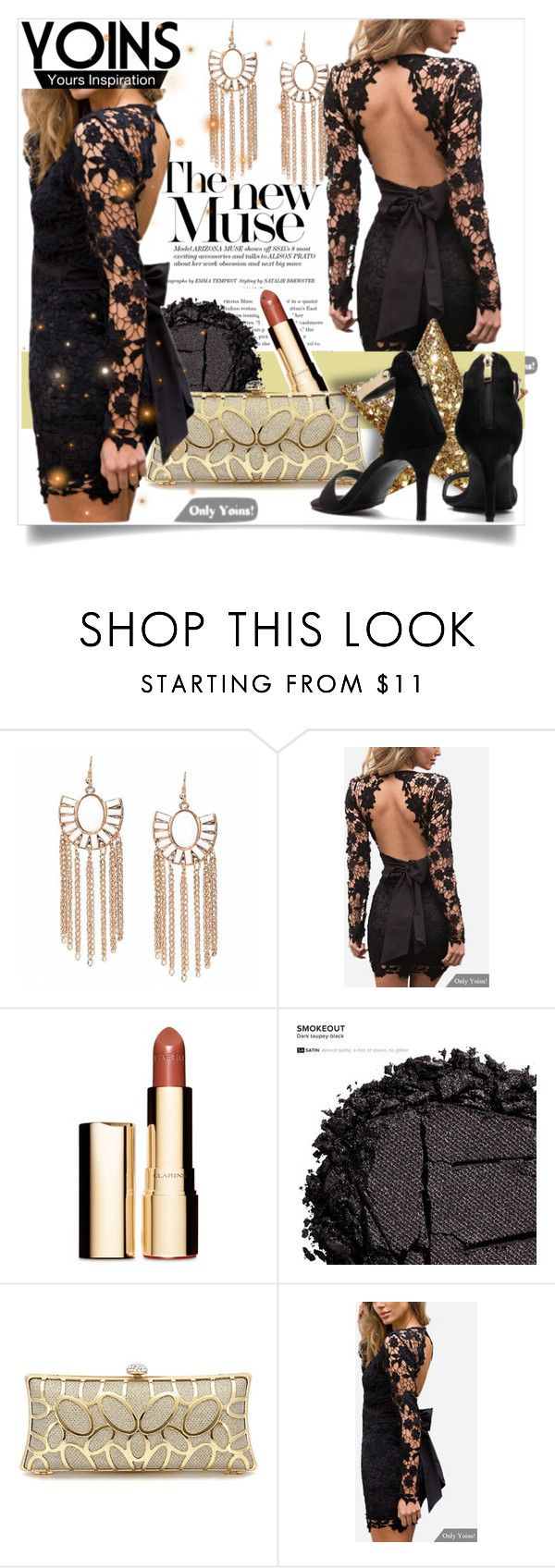 """""""Yoins"""" by srebrnisnijeg ❤ liked on Polyvore featuring Clarins and Urban Decay"""