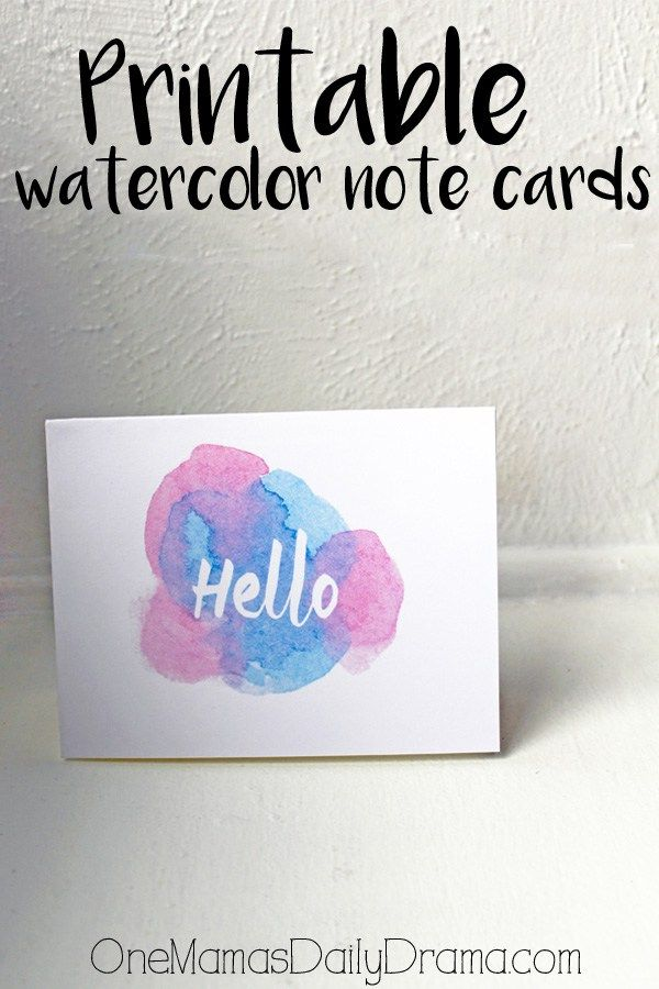 Printable watercolor note cards | greeting cards for any occasion - Mother's Day, anniversary, get well soon, just because...
