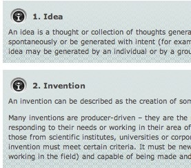 KEY TERMS -  This resource provides explanations of the key terms encountered when exploring Innovation.