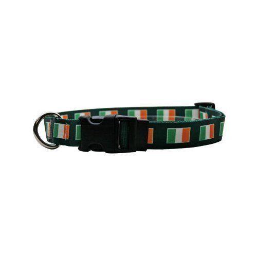 St Patrick's Day Dog Collar Irish Flag Pet Supplies Funny Green Brand New #YellowDogDesign