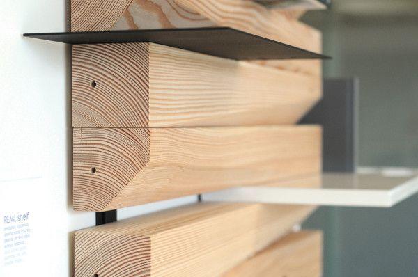 REMLshelf: Artistic Wood Shelving Photo