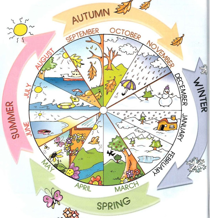 Months and seasons.