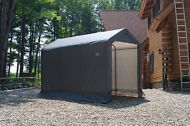 Shed in a Box 6 x 12 x 8 Motorcycle Storage Shelter Covered Tent Canopy Shed