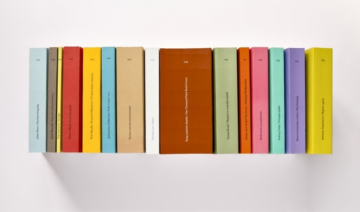"""40 000 Malarzy Publishing House publishes books related to modern art and art criticism, as well as architecture and design. The designers aimed at making the books """"compact"""", handy, with elegant graphics but also modern and easily recognizable. This aim was achieved: the raw and distinct cover is a trademark of the 40 000 Malarzy Publishing House while the content behind it is a classically designed interior."""