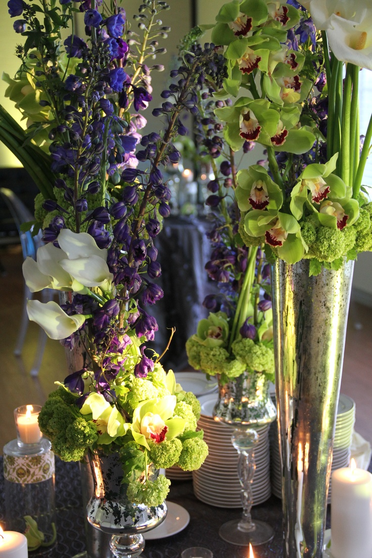 22 best honey images on pinterest floral arrangements flower floral arrangement by cmp green purple and white have these flowers at your izmirmasajfo