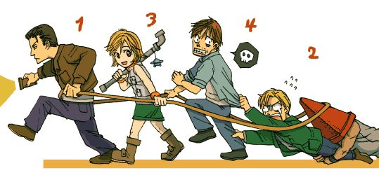 Harry + Heather + Henry + James (Silent Hill main characters)