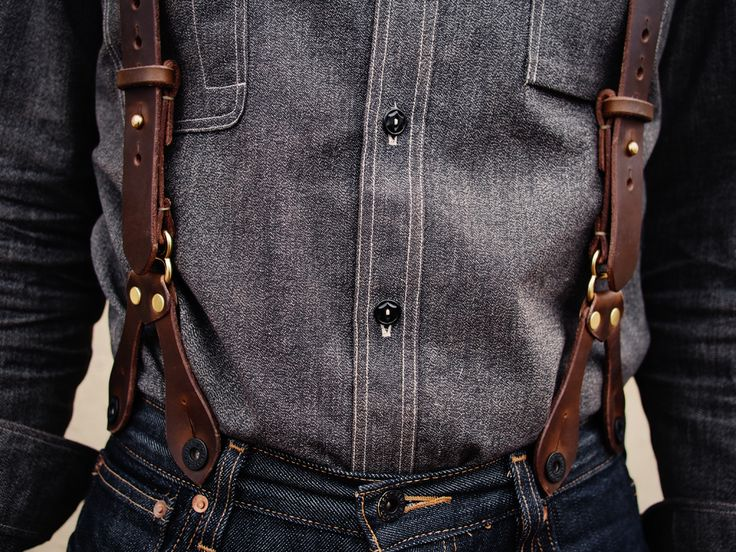 Leather suspenders                                                       …