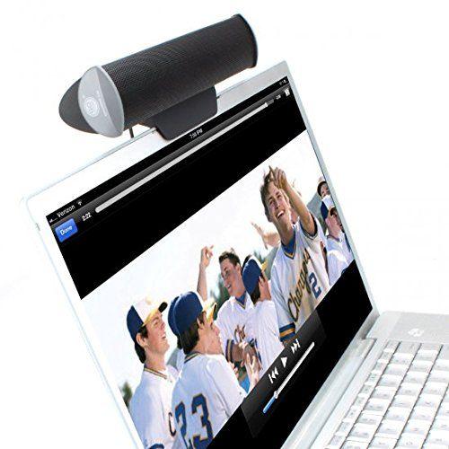 GOgroove Haut-Parleur Barre Stéréo Enceinte PC Portable USB Clipsable sur Ecran d'Ordinateurs Compatible avec Ordinateurs Portables , PC…