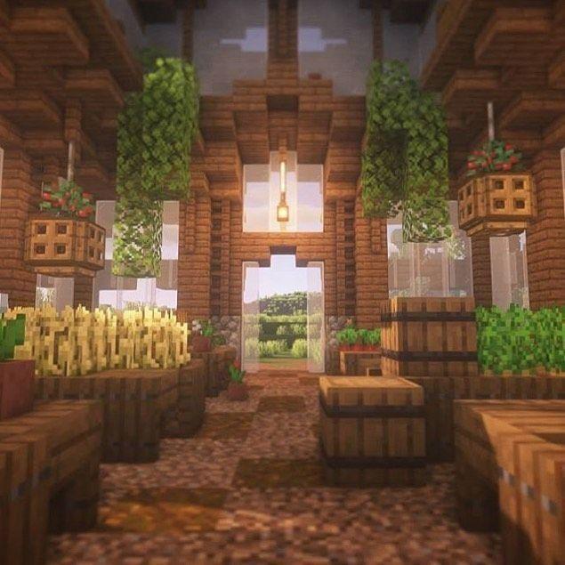 Minecraft Interior Design Medieval Minecraft Interior Design 1000 in 2020 Minecraft interior design Minecraft farm Minecraft greenhouse