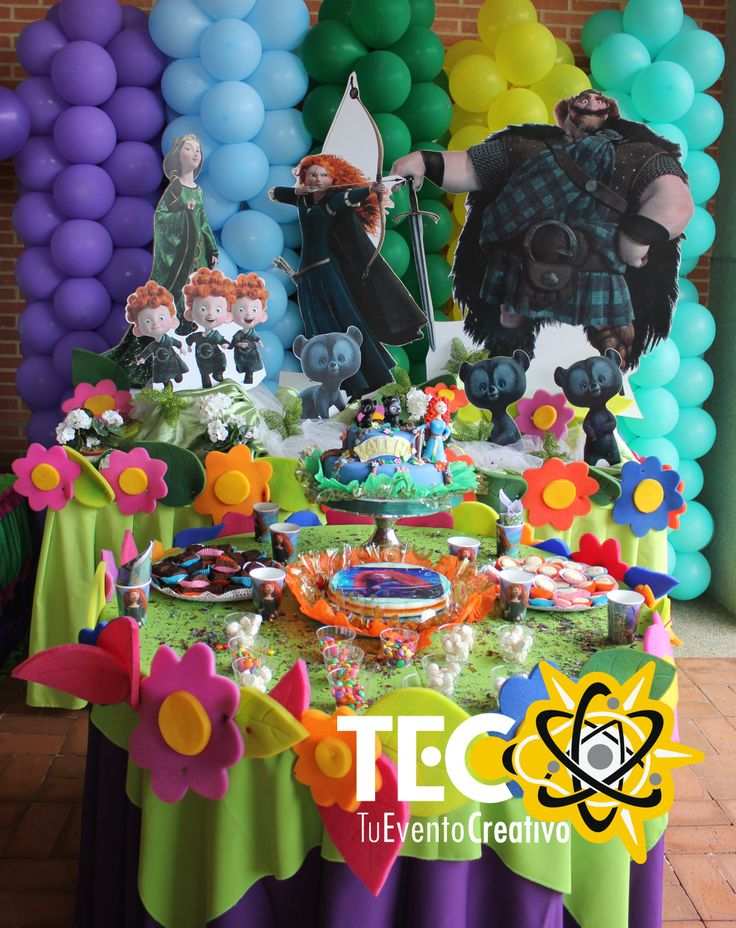 Brave decoration decoracion de valiente mesa de la torta - Mesas infantiles disney ...