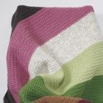 Color Block Blankets..like the idea of white, yellow and gray