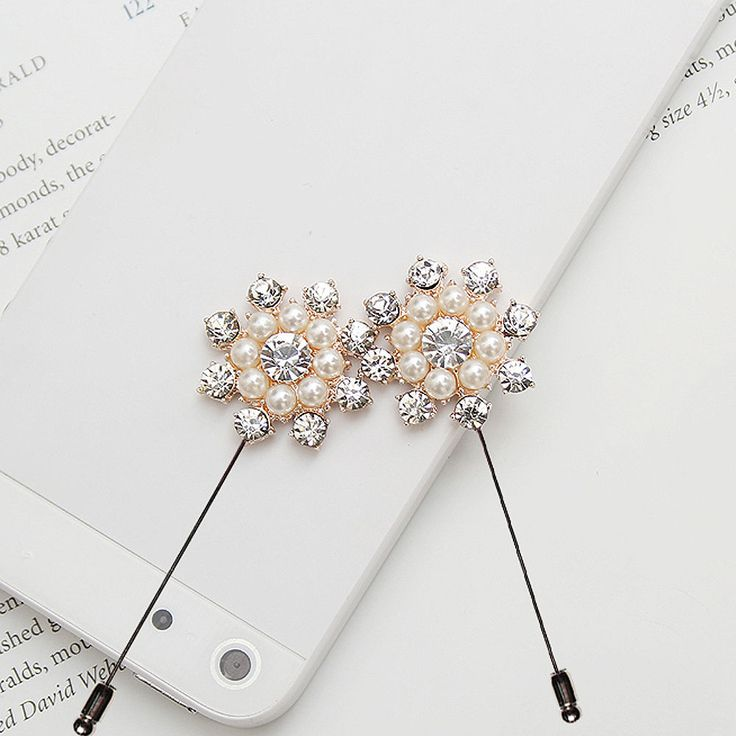 Mens Accessories Cubic Diamond Pearl Flower Boutonniere Brooch Corsage Lapel Pin   Clothing, Shoes & Accessories, Men's Accessories, Other Men's Accessories   eBay!