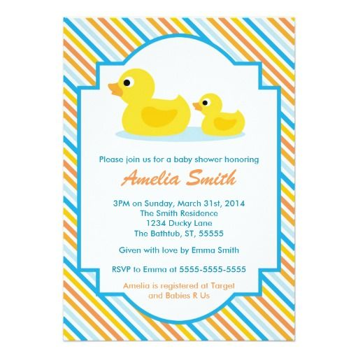 best duck baby shower invitations images on   duck, Baby shower