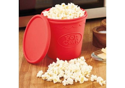 No more bags! Opt for a healthier option with this silicone PopCorn bowl for the microwave.