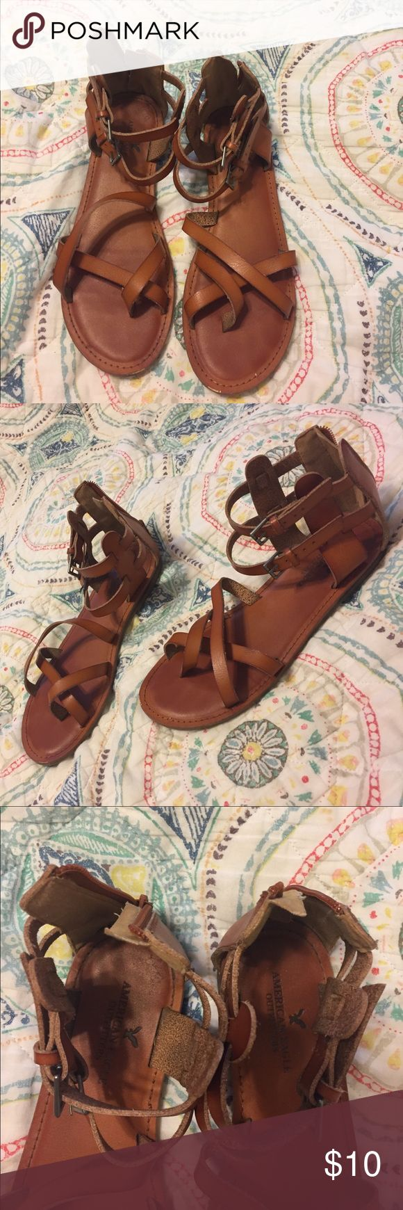 Sandals American Eagle strappy tan sandals American Eagle Outfitters Shoes Sandals