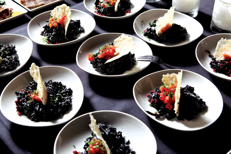 Fine catering menu served at Island! by #ARIAFineCatering