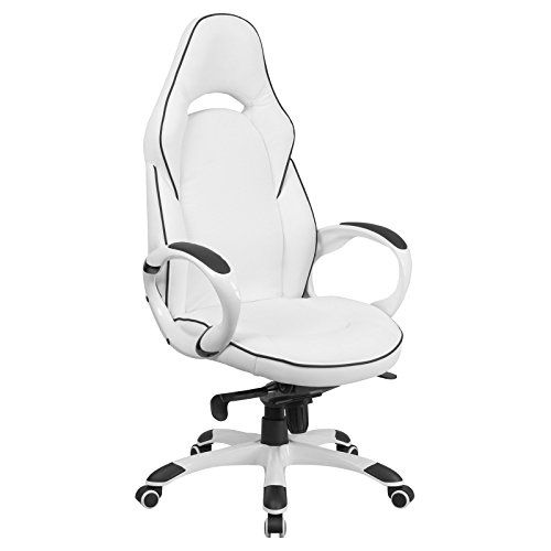 High Back Swivel Office Computer Chair Lumbar Support Tilt Mechanism Ergonomic Adjustable Height Comforta Swivel Office Chair Vinyl Chairs Flash Furniture