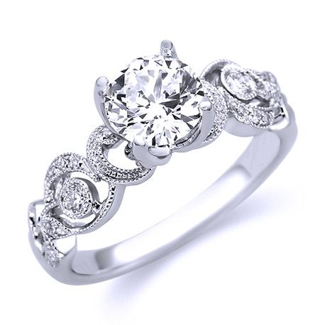 Parade Vintage inspired Diamond Engagement Ring R3124/RD
