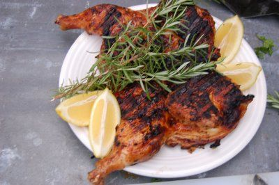 Tuscan Chicken Under a Brick I do this on my traeger pellet smoker at ...