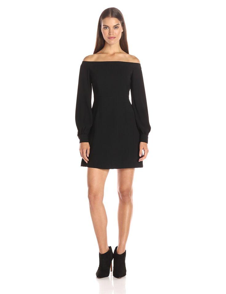 Jill Jill Stuart Women's Off the Shoulder Long Sleeve Dress, Black, 2