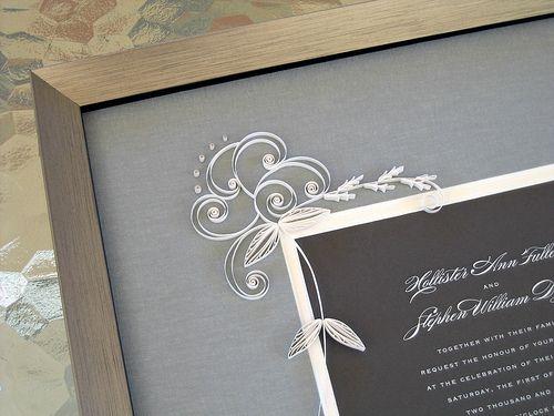 1000 Ideas About Wedding Invitation Keepsake On Pinterest: 1000+ Images About Quilled Wedding Framw On Pinterest