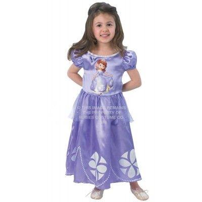 Paarse jurk van Sofia het Prinsesje. In verschillende maten verkrijgbaar. http://www.feestwinkel.nl/disney-sofia-het-prinsesje-jurk.html