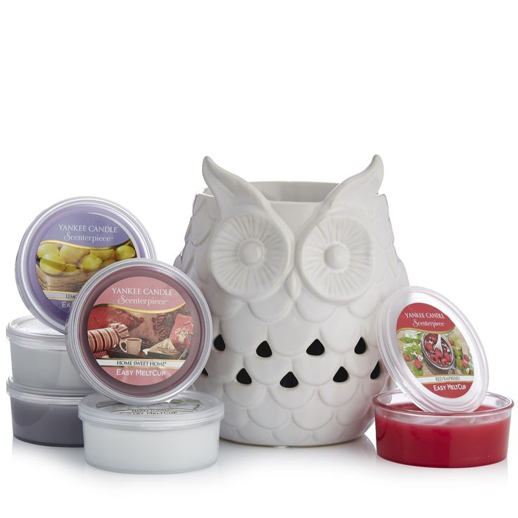 Yankee Candle Glowing Owl Scenterpiece with 6 Melt Cups - Tap the image to shop!