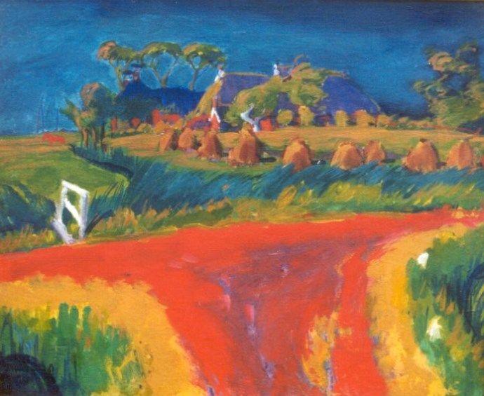Johannes 'Johan' Dijkstra (Groningen 1896-1978) De rode weg - Kunsthandel Simonis en Buunk, Ede (Nederland).