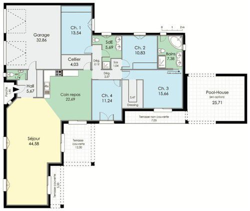 1000 ideas about plan maison plein pied on pinterest - Plan maison plein pied moderne ...